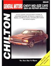 Chevrolet Mid-Size Cars 1964 - 1988 Chilton Owners Service & Repair Manual