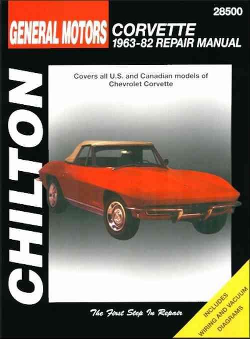 Chevrolet Corvette 1963 - 1982 Chilton Owners Service & Repair Manual - Front Cover