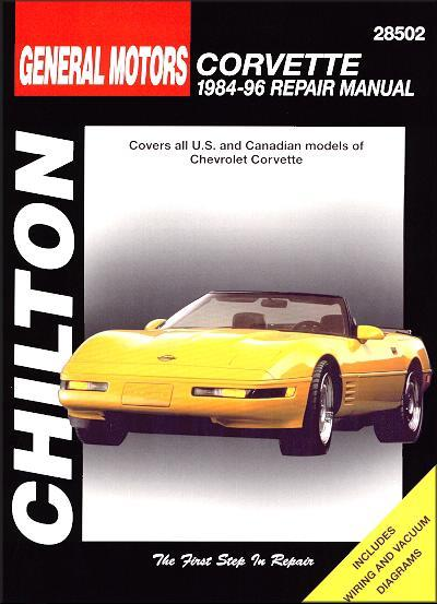 Chevrolet Corvette 1984 - 1996 Chilton Owners Service & Repair Manual