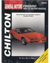 Pontiac Firebird 1982 - 1992 Chilton Owners Service & Repair Manual