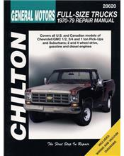 Chevrolet Full Size Trucks 1970 - 1979 Chilton Owners Service & Repair Manual