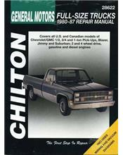 Chevrolet Full Size Trucks 1980 - 1987 Chilton Owners Service & Repair Manual