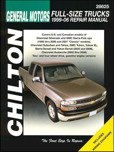 Chevrolet Full Size Trucks 1999 - 2006 Chilton Owners Service & Repair Manual