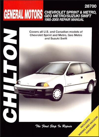 Chevrolet Sprint & Metro, Geo Metro/Suzuki Swift 1985 - 2000 - Front Cover