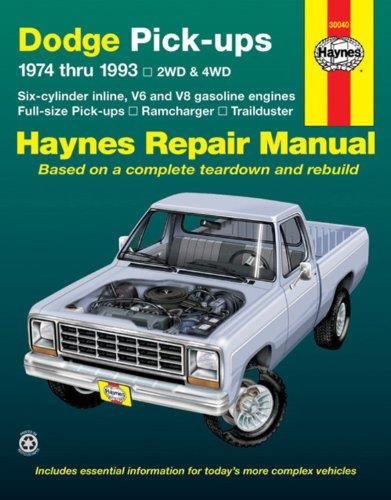 Dodge Fullsize Pick-ups 1974 - 1993 Haynes Owners Workshop Manual