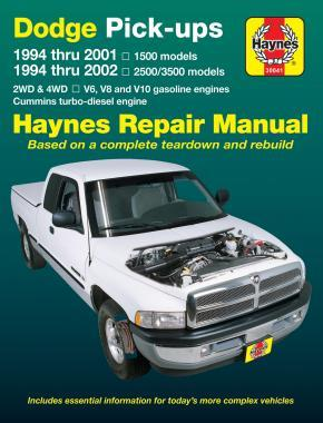 Dodge Pick-ups 1994 - 2002 Haynes Owners Workshop Manual - Front Cover