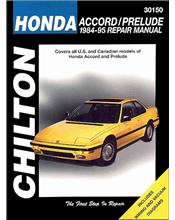 Honda Accord and Prelude 1984 - 1995 Chilton Owners Service & Repair Manual