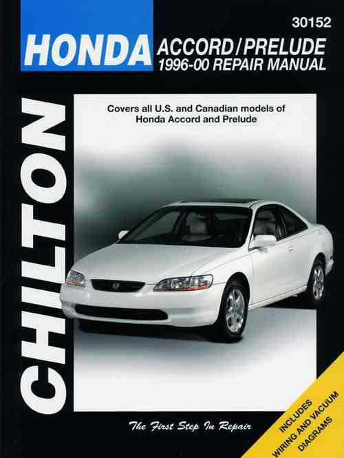 Honda Accord / Prelude 1996 - 2000 Chilton Owners Service & Repair Manual - Front Cover