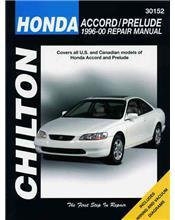 Honda Accord / Prelude 1996 - 2000 Chilton Owners Service & Repair Manual