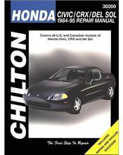 Honda Civic, CRX & del Sol 1984 - 1995 Chilton Owners Service & Repair Manual