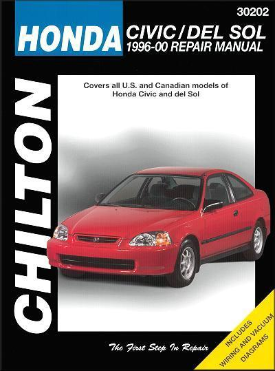 Honda Civic, CRX & del Sol 1996 - 2000 Chilton Owners Service & Repair Manual