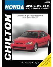 Honda Civic, CRX & del Sol 1996 - 2000 Chilton Owners Service & Repair Manual
