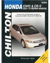 Honda Civic & CR-V (CRV) 2001 - 2010 Chilton Owners Service & Repair Manual