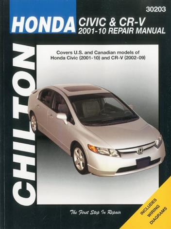 Honda Civic & CR-V (CRV) 2001 - 2010 Chilton Owners Service & Repair Manual - Front Cover