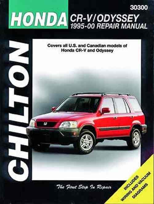 Honda CR-V (CRV) Odyssey 1995 - 2000 Chilton Owners Service & Repair Manual - Front Cover