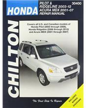 Honda Pilot 2003 - 2012 & Acura MDX 2001 - 2007