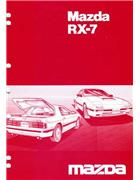 Mazda RX-7 (FC) 03/1986 Bodyshop Factory Workshop Manual Supplement - Front Cover