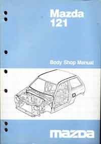 Mazda 121 (DA) Body Shop 1986 Factory Workshop Manual Supplement -