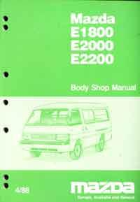 Mazda E Series 04/1988 Body Shop Factory Workshop Manual - Front Cover