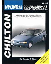 Hyundai Coupes & Sedans 1986 - 1993 Chilton Owners Service & Repair Manual