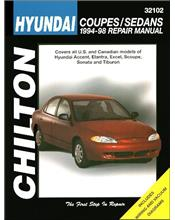 Hyundai Coupes & Sedans 1994 - 1998 Chilton Owners Service & Repair Manual