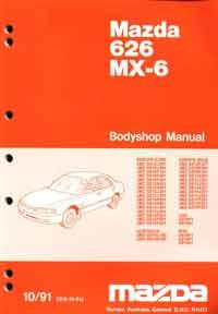 Mazda 626 & MX6 GE 10/1991 Bodyshop Factory Workshop Manual Supplement - Front Cover