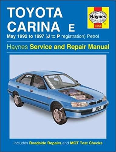 Toyota Carina E Petrol May 1992 - 1997 Haynes Repair Manual