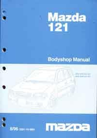 Mazda 121 DW Bodyshop 08/1996 Factory Workshop Manual Supplement - Front Cover