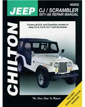 Jeep CJ / Scrambler 1971 - 1986 Chilton Owners Service & Repair Manual