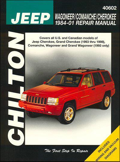 Jeep Wagoneer / Comanche / Cherokee 1984 - 2001 - Front Cover