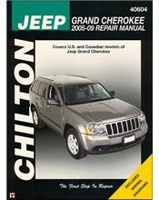 Jeep Grand Cherokee 2005 - 2009 Chilton Owners Service & Repair Manual