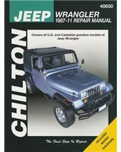 Jeep Wrangler and YJ 1987 - 2011 Chilton Owners Service & Repair Manual