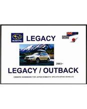 Subaru Legacy / Outback 2003 - On Owners Handbook
