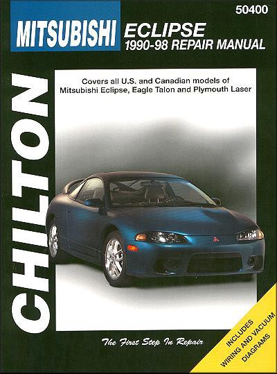 Mitsubishi Eclipse 1990 - 1998 Chilton Owners Service & Repair Manual - Front Cover