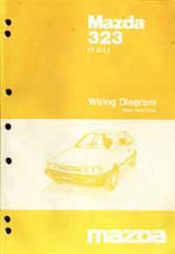 mazda 323 1985 factory wiring diagram manual mazda motor. Black Bedroom Furniture Sets. Home Design Ideas
