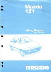 Mazda 121 DA 10/1986 Factory Wiring Diagram Manual - Front Cover