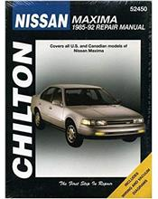 Nissan Maxima 1985 - 1992 Chilton Owners Service & Repair Manual
