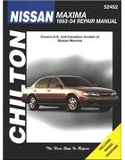 Nissan Maxima 1993 - 2004 Chilton Owners Service & Repair Manual - Front Cover