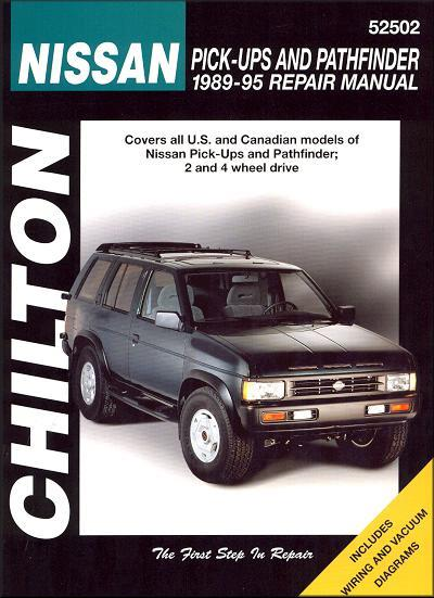 Nissan Pick-ups & Pathfinder 1989 - 1995 Chilton Owners Service & Repair Manual - Front Cover