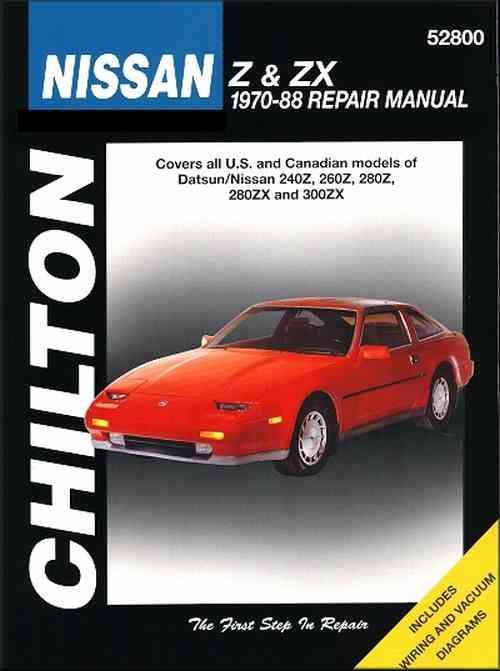 Datsun / Nissan Z & ZX 1970 - 1988 Chilton Owners Service & Repair Manual - Front Cover