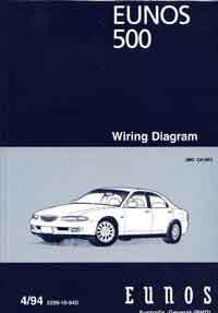 Mazda Eunos 500 CA 04/1994 Factory Wiring Diagram Manual Supplement - Front Cover