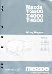 Mazda T Series (WG) 06/1995 Wiring Diagram Manual - Front Cover