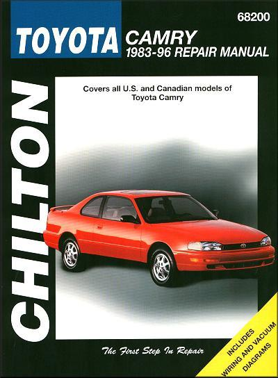Toyota Camry 1983 - 1996 Chilton Owners Service & Repair Manual - Front Cover