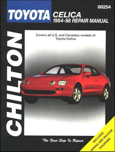 Toyota Celica 1994 - 1998 Chilton Owners Service & Repair Manual - Front Cover