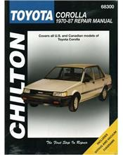 Toyota Corolla 1970 - 1987 Chilton Owners Service & Repair Manual
