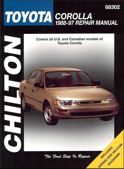 Toyota Corolla 1988 - 1997 Chilton Owners Service & Repair Manual