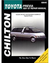 Toyota Previa (Tarago) 1991 - 1997 Chilton Owners Service & Repair Manual
