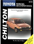 Toyota Tercel 1984 - 1994 Chilton Owners Service & Repair Manual