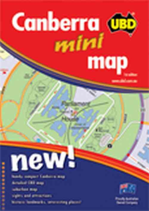 UBD Canberra Mini City Map 258 (1st Edition)