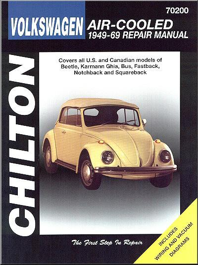 Volkswagen Beetle Air Cooled 1949 - 1969 Chilton Owners Service & Repair Manual - Front Cover
